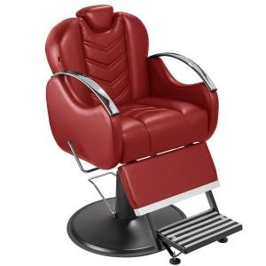 Cadeira de Barbeiro Alfa Base Taça Preto Marri