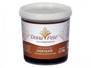 Cera Depilatória Hidrossolúvel Chocolate Dona Pele-1,2kg
