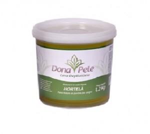 Cera Depilatória Hidrossolúvel Hortelã Dona Pele-1,2kg