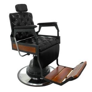 Cadeira De Barbeiro Hawk Reclinável Capitonê