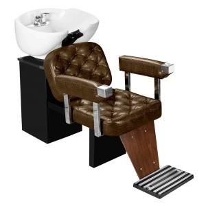 Lavatório Dubai Barber com Descanso de Pernas Marri