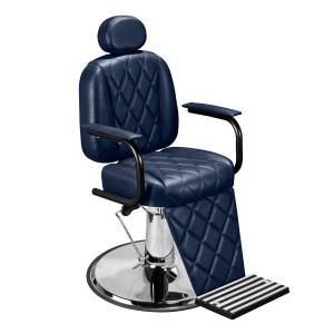 Cadeira de Barbeiro Califórnia Marri pé prato cromado