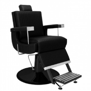 Cadeira de Barbeiro Reclinável Florida Base Preta Marri-Preto