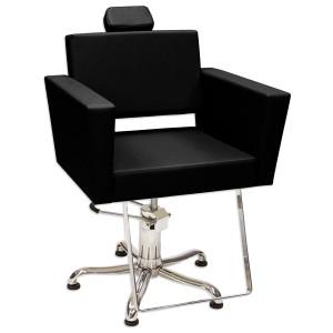 Cadeira Hidráulica Encosto Reclinável Niágara Kixiki-Preto