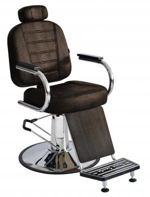 Cadeira Barbeiro Reclinável Matisse Retrô Terra Santa -Café