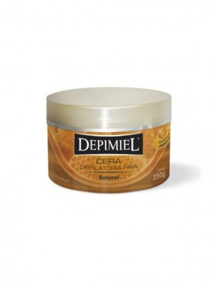 Cera Depilatório Fria Natural Depimiel-250g