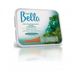 Cera Depilatória Quente Algas com Menta Depil Bella-1kg