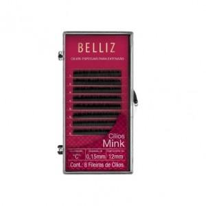 Cilios Para Alongamento Mink C 015 12mm Belliz