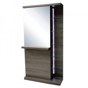 Console Frente de Espelho Com Led Turim Kixiki