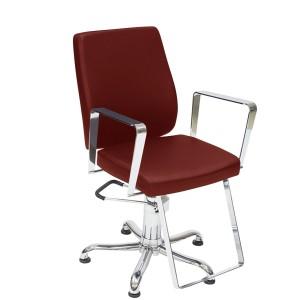 Cadeira de Cabeleireiro Fixa Croma Kixiki-Bordo