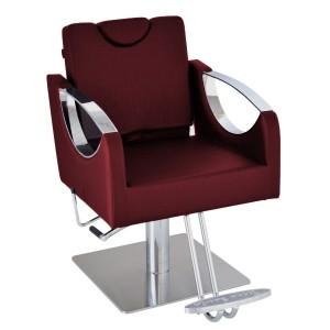 Cadeira Hidráulica Reclinável base Quadrada Inox Dali Terra Santa-Bordo