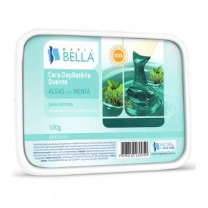 Cera Depilatória Quente Algas com Menta Depil Bella-500g