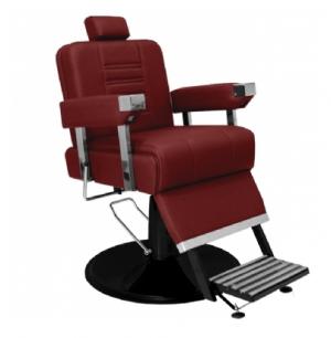 Cadeira de Barbeiro Reclinável Detroit Base Preta Marri-Bordo