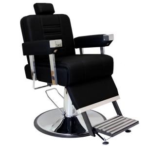 Cadeira de Barbeiro Reclinável Detroit Base Cromada Marri
