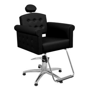 Cadeira Hidráulica Reclinável Elegance Marri-Preto