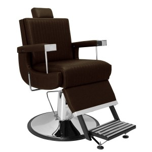 Cadeira de Barbeiro Reclinável Florida Base Cromada Marri