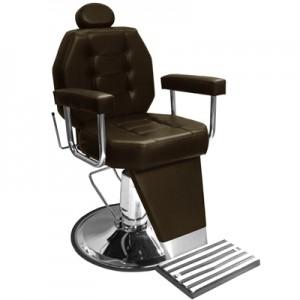 Cadeira de Barbeiro Reclinável Base Cálice Linea Marri-Café