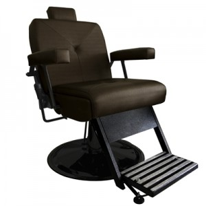 Cadeira de Babeiro Reclinável Milão Marri -Café