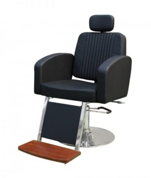 Cadeira para barbearia reclinável Montana base menor - Kixiki