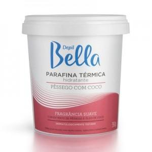 Parafina Térmica Hidratante Coco com Pêssego Depil Bella-350g