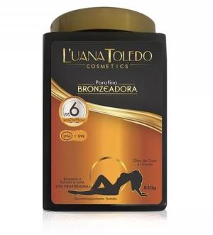 Parafina Bronzeadora FPS 6 com Óleo de coco e urucum 850g Luana Toledo