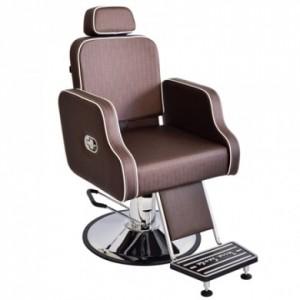 Cadeira Hidráulica Cabeleireiro/Barbeiro Reclínavel Greco Terra Santa-Café