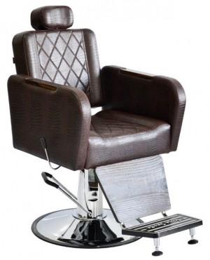 Cadeira de Barbeiro Caravaggio Base Taça Cromado Terra Santa