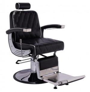 Cadeira de Barbeiro Da Vinci Base Taça Cromado Terra Santa