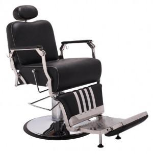 Cadeira de Barbeiro Picasso Base Taça Cromado Terra Santa
