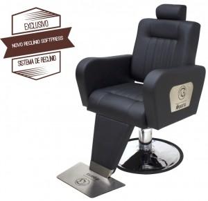 Cadeira para Barbeiro / Cabeleireiro Reclinável Sparta Kixiki