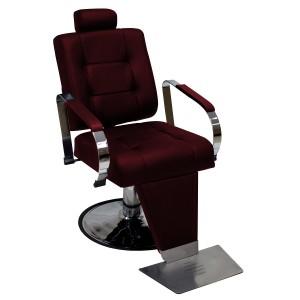 Cadeira de Barbeiro Hidráulica Encosto Reclinável Titan Kixiki-Bordo