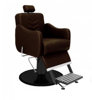 Cadeira de Barbeiro Veneza Base Taça Preto Marri-Café
