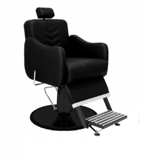 Cadeira de Barbeiro Veneza Base Taça Preto Marri-Preto