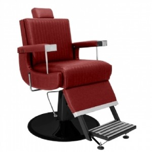Cadeira de Barbeiro Reclinável Florida Base Preta Marri-Bordo
