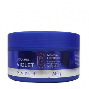 Máscara Hidratante Color Power Violet Platinum Lowell 240g