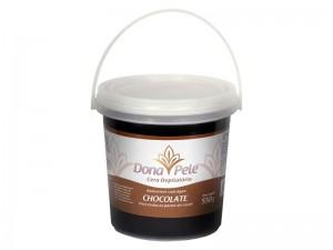 Cera Depilatória Hidrossolúvel Chocolate Dona Pele-550g