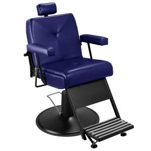 Cadeira de Barbeiro Milão Base Taça Preto Marri
