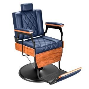Cadeira de Barbeiro Barber Wood Base Preto