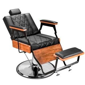 Cadeira de Barbeiro Barber Wood Base Preta