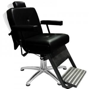 Cadeira de barbeiro Hidráulica Reclinável Monza Preta - Marri