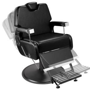 Cadeira de Barbeiro Sevilha Base Taça Preto Marri