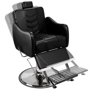 Cadeira Hidráulica Barbeiro Base Calice Cromado Reclinável Veneza Marri