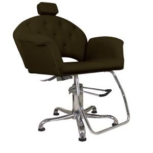 Cadeira Hidráulica Encosto Reclinável Velvet Kixiki
