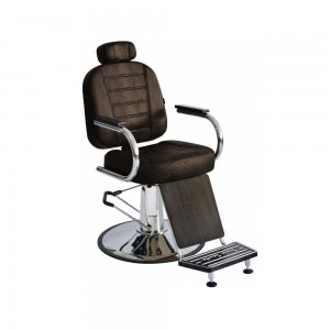 Cadeira de Barbeiro Matisse Retrô Base Cromada Terra Santa