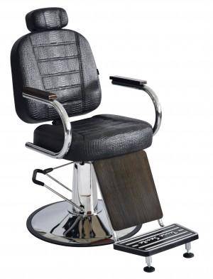 Cadeira Barbeiro Reclinável Matisse Retrô Terra Santa -Preto