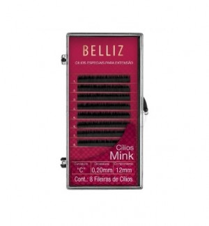 Cilios Para Alongamento Mink C 020 12mm Belliz