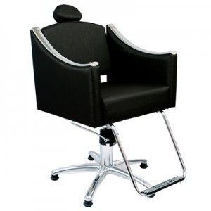 Cadeira Hidráulica Reclinável Cristal Marri-Preto
