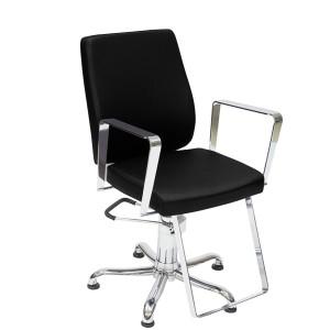 Cadeira de Cabeleireiro Fixa Croma Kixiki-Preto
