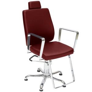 Cadeira de Cabeleireiro Reclinável Croma Kixiki-Bordo