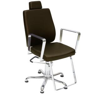Cadeira de Cabeleireiro Reclinável Croma Kixiki-Café